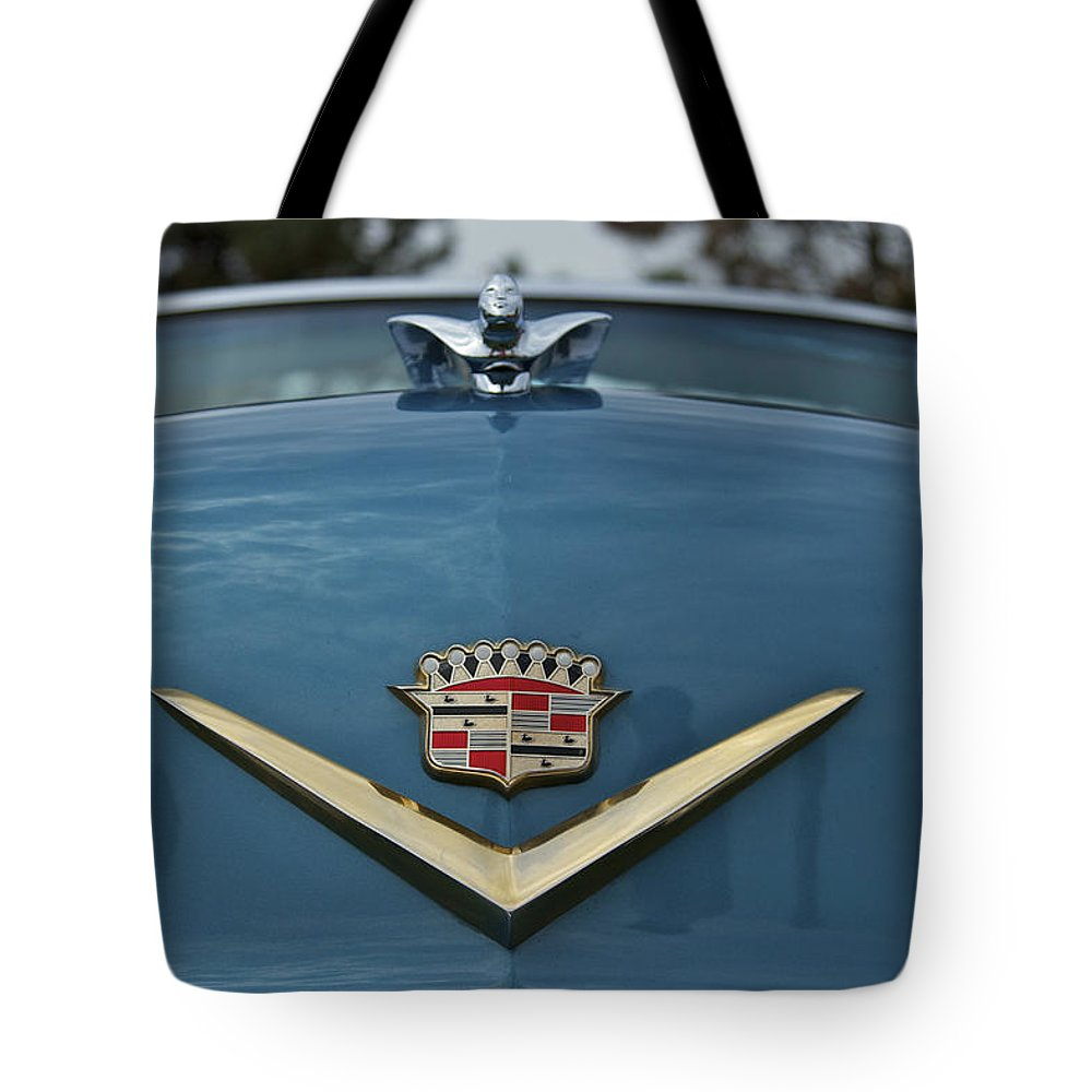 Antique Tote Bag featuring the photograph Cadillac by Jack R Perry