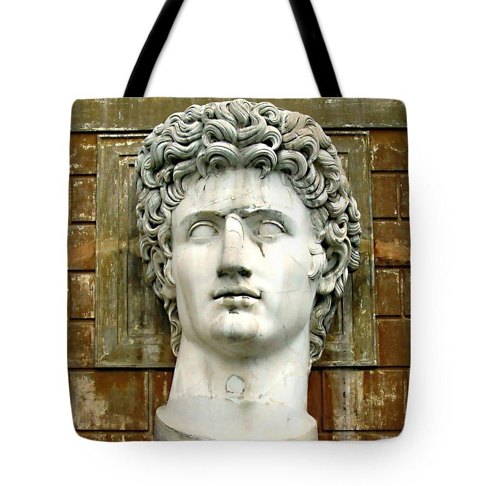 Caesar Augustus Tote Bag featuring the photograph Caesar Augustus by Ellen Henneke