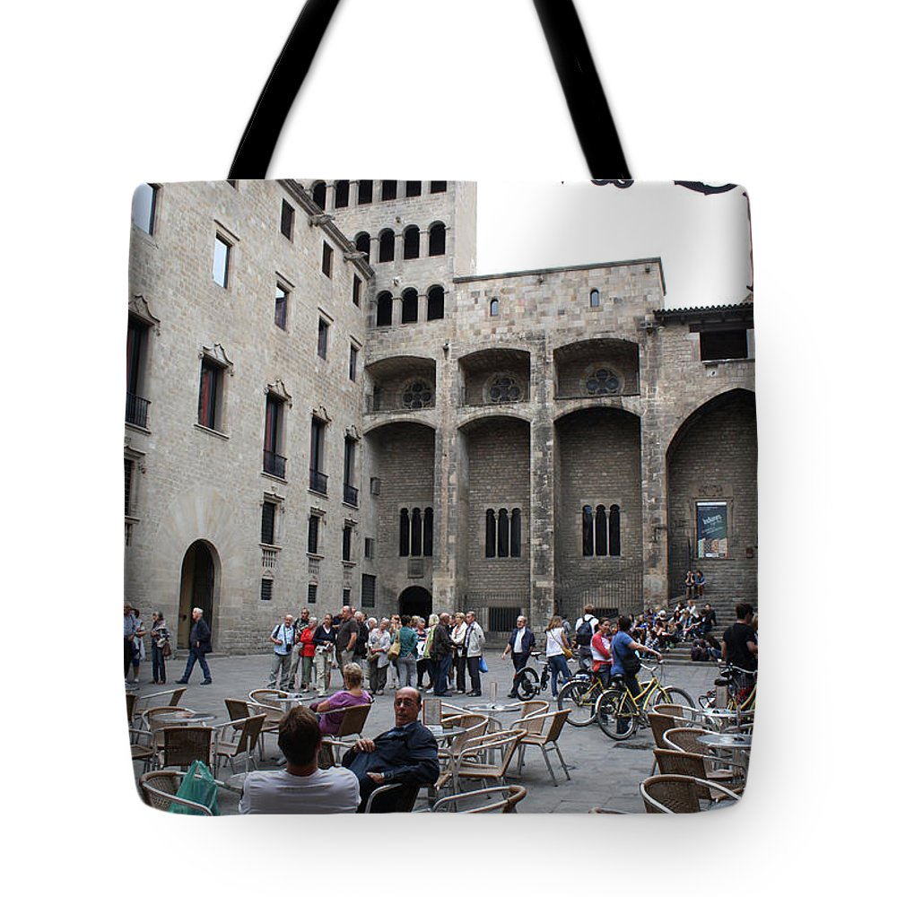 Cafe Tote Bag featuring the photograph Cafe Barcelona Spain by Bridget Brummel