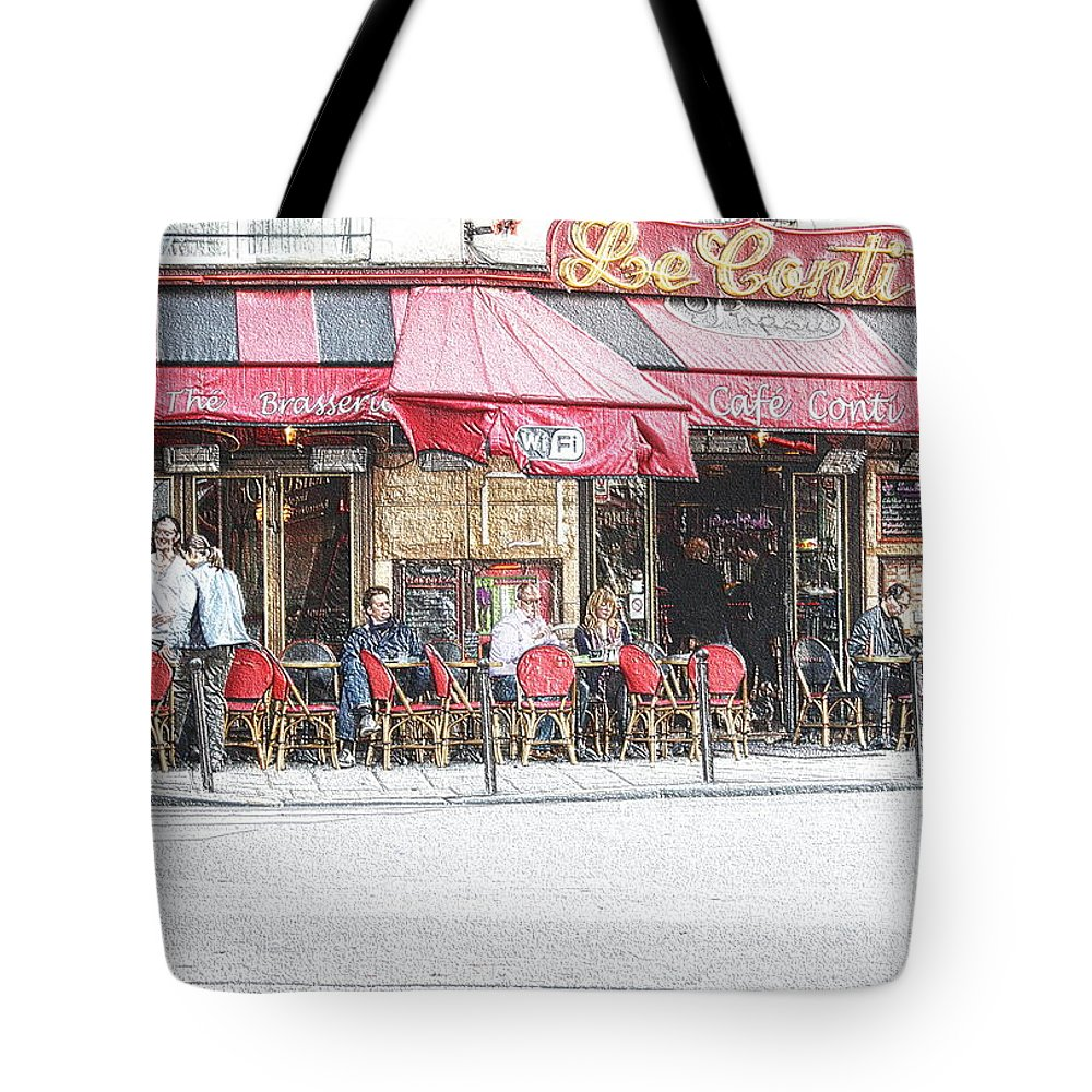 France Tote Bag featuring the photograph Cafe Conti by Sergio B