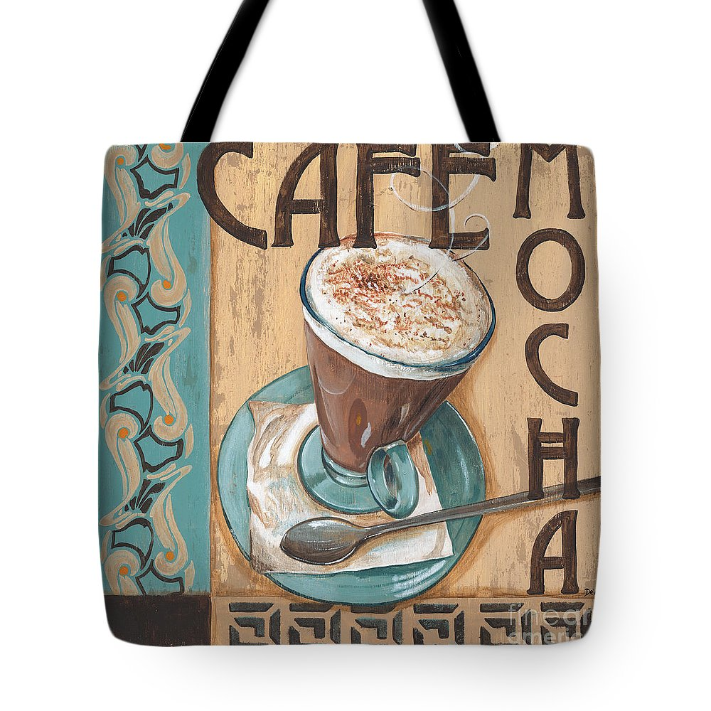 Food Tote Bag featuring the painting Cafe Nouveau 1 by Debbie DeWitt