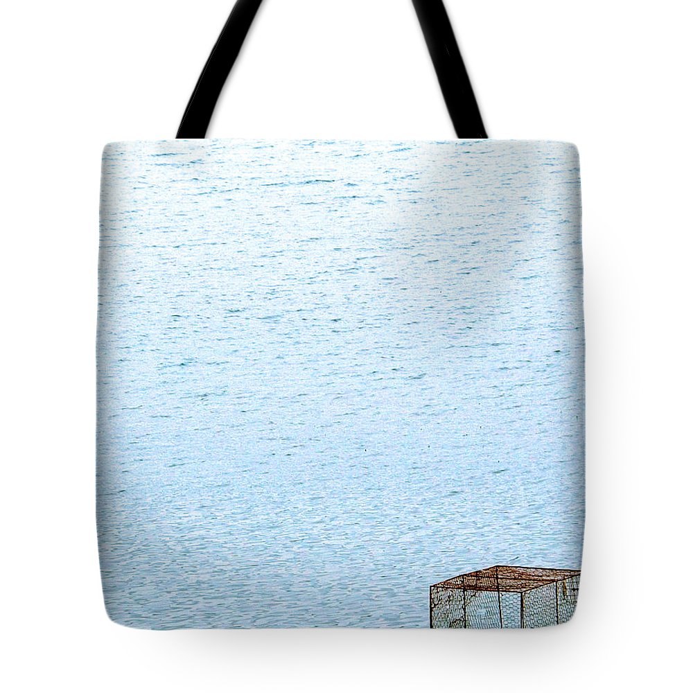 Cage Tote Bag featuring the photograph Caged Expanse by Kaleidoscopik Photography