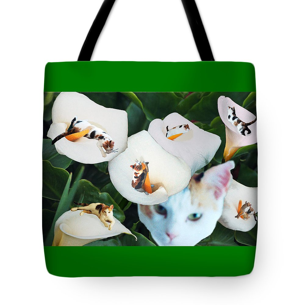 Cat Tote Bag featuring the digital art Cala In Callas by Lisa Yount