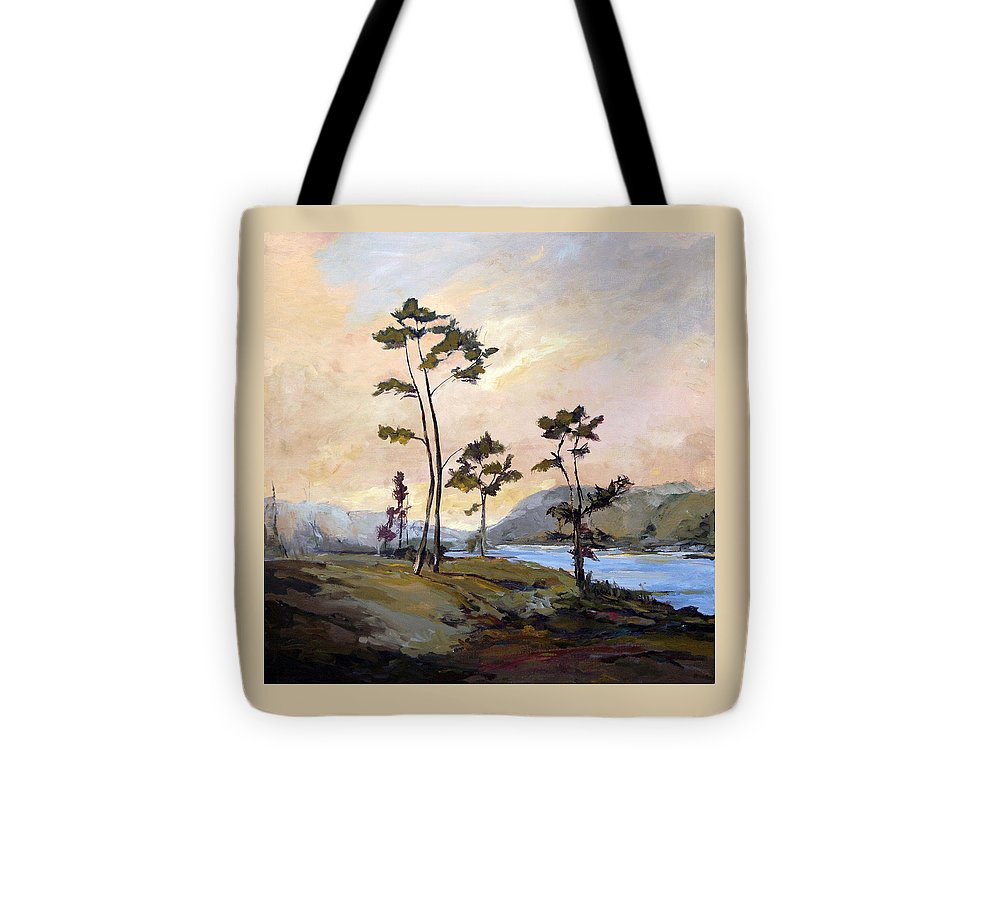 Carolina Tote Bag featuring the painting Calabash River by J R Baldini