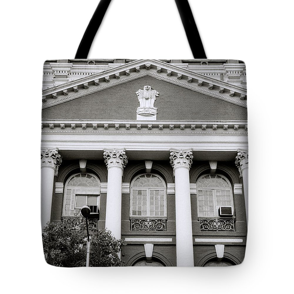 Calcutta Tote Bag featuring the photograph Calcutta Writers Buildings by Shaun Higson