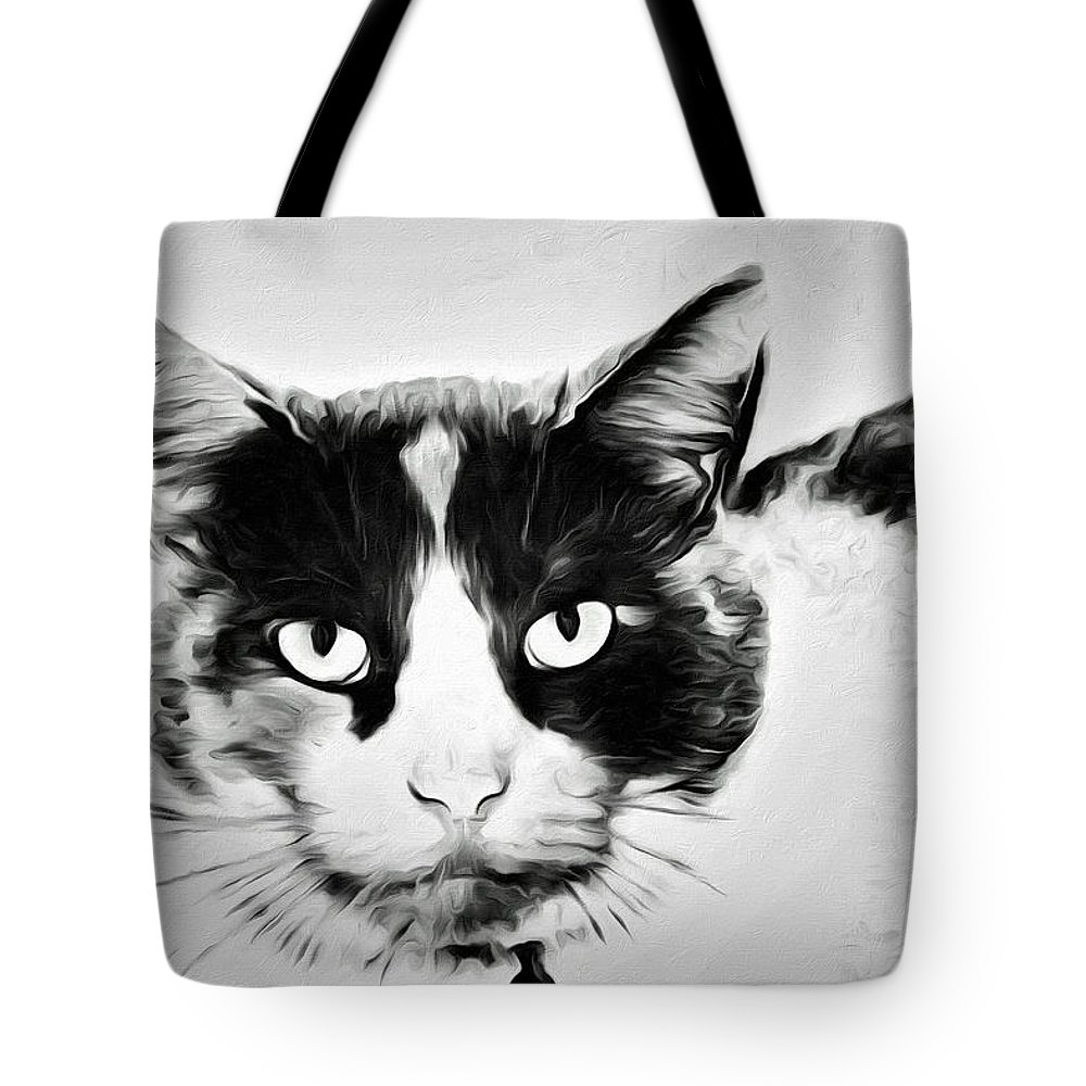 Cat Portrait Tote Bag featuring the photograph Calico Kitty by Alice Gipson