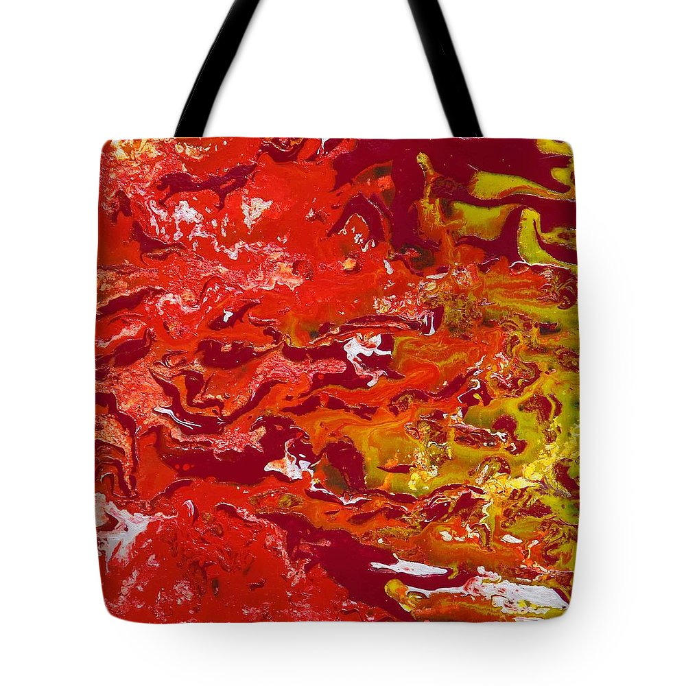 Fusionart Tote Bag featuring the painting Caliente by Ralph White
