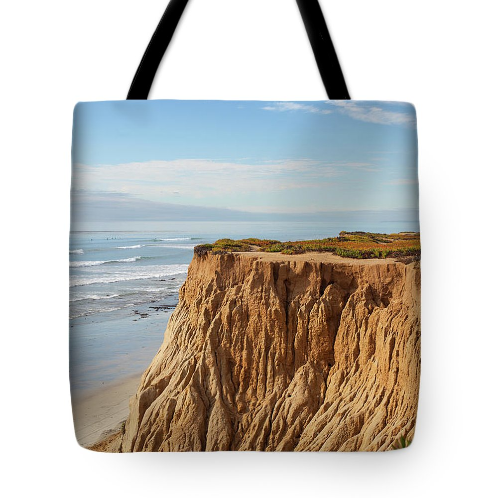Water's Edge Tote Bag featuring the photograph California Coast by Bill Oxford