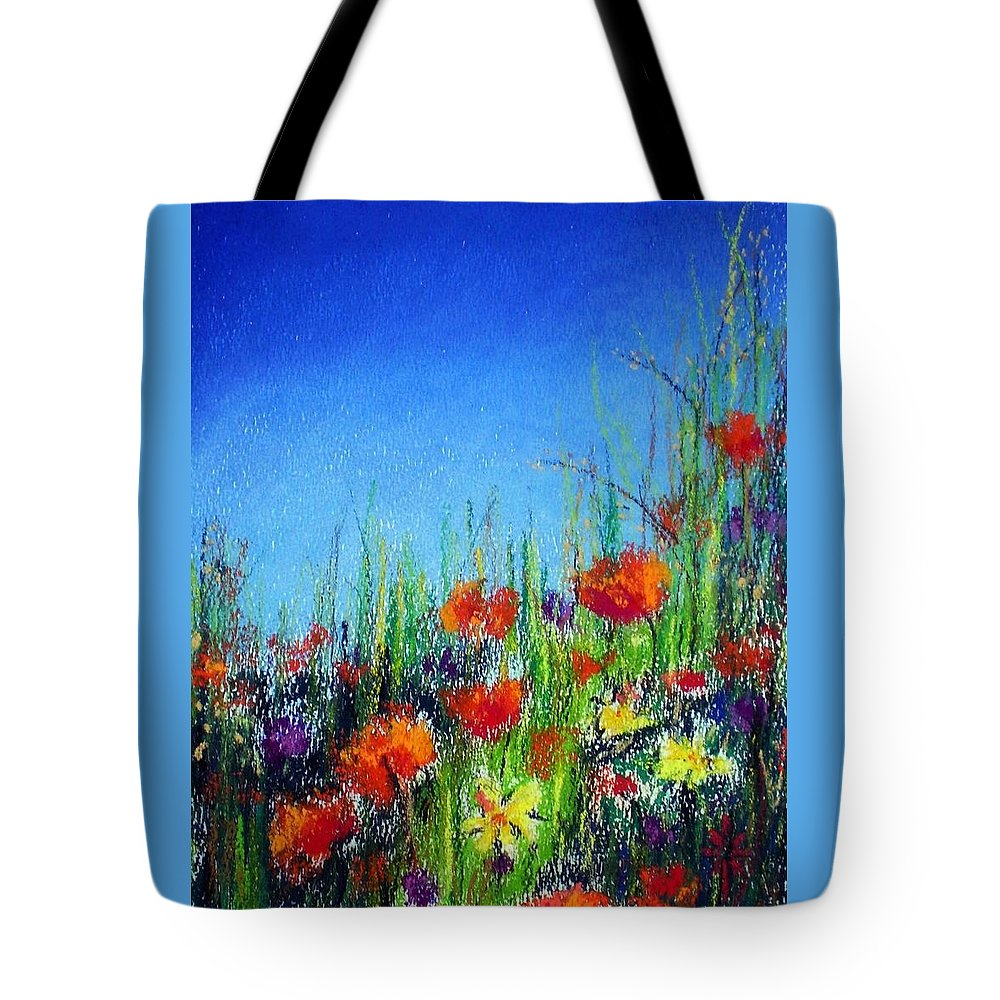 Spring Tote Bag featuring the pastel California Dreaming by Jodie Marie Anne Richardson Traugott     aka jm-ART