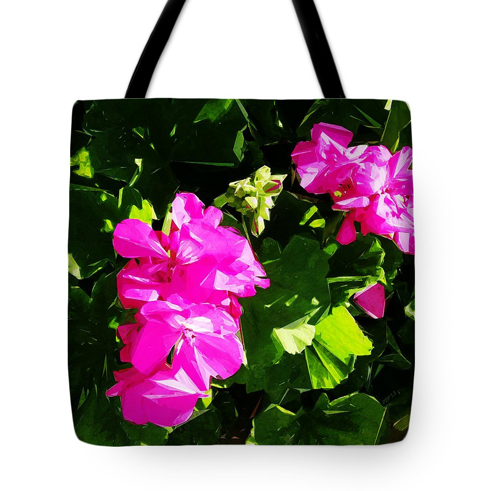 Photography Tote Bag featuring the digital art California Flowers by Phil Perkins