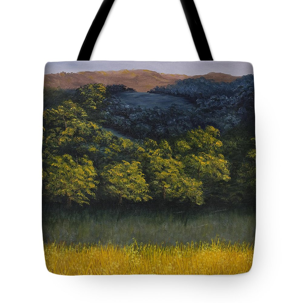 Landscape Tote Bag featuring the painting California Foothills by Darice Machel McGuire