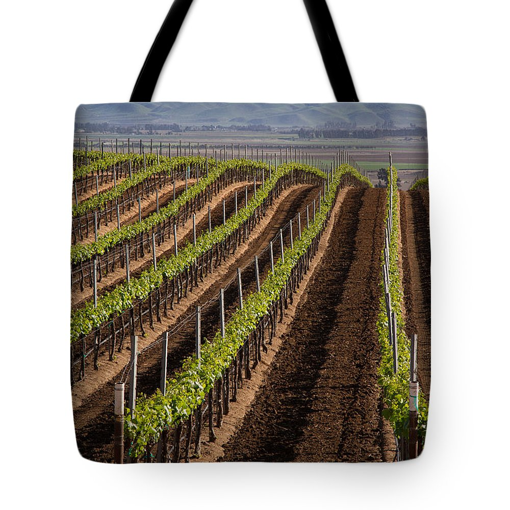 Wine Tote Bag featuring the photograph California Vineyard by Roger Mullenhour