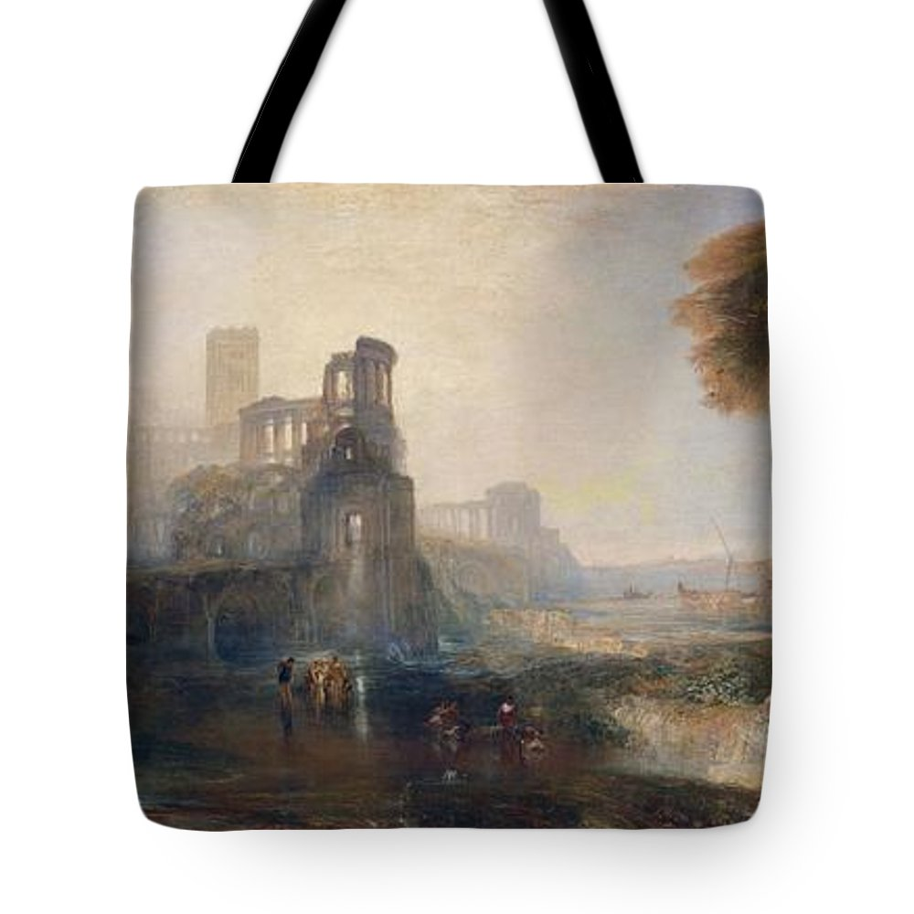 1831 Tote Bag featuring the painting Caligula's Palace And Bridge by JMW Turner