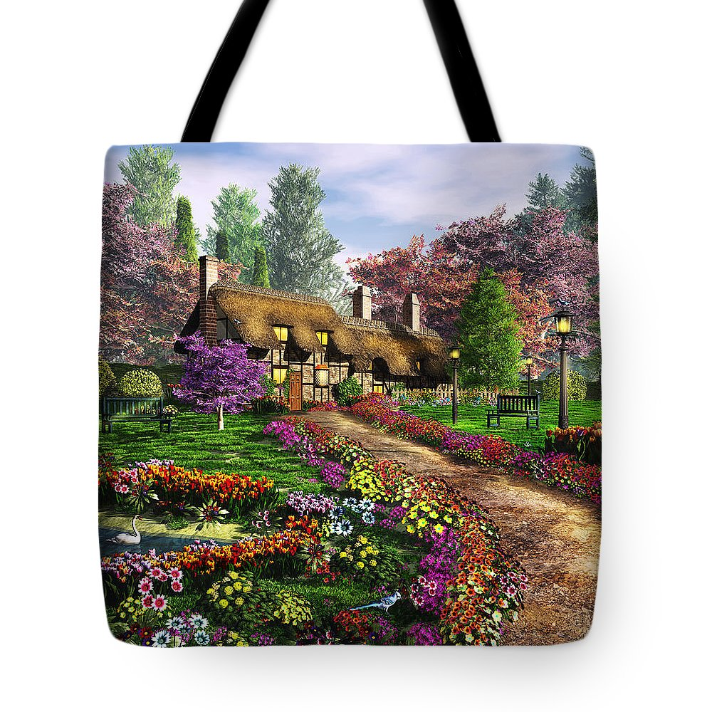 Art Licensing Tote Bag featuring the mixed media Call Of The Bluejay by Caplyn Dor