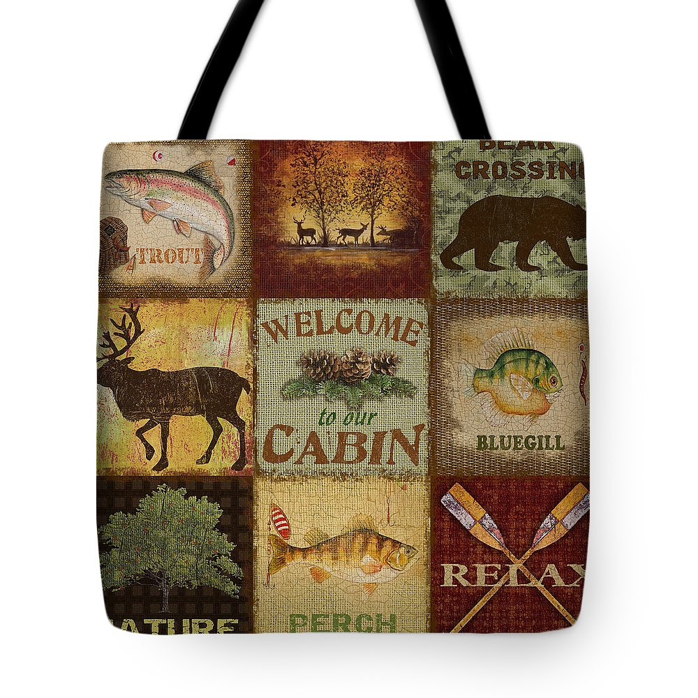 Jean Plout Tote Bag featuring the painting Call Of The Wilderness by Jean Plout
