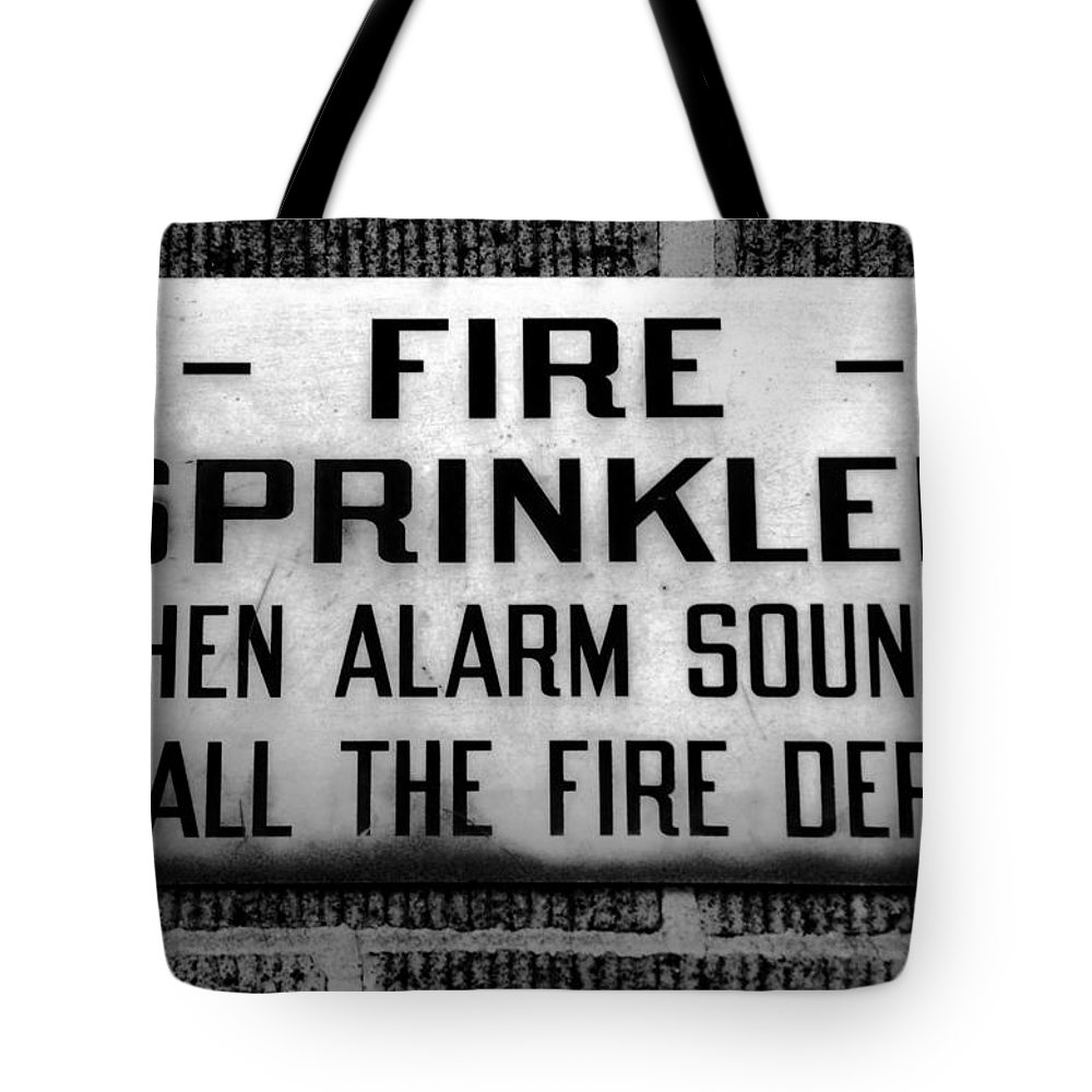 Fine Art Photography Tote Bag featuring the photograph Call The Fire Dept by David Lee Thompson