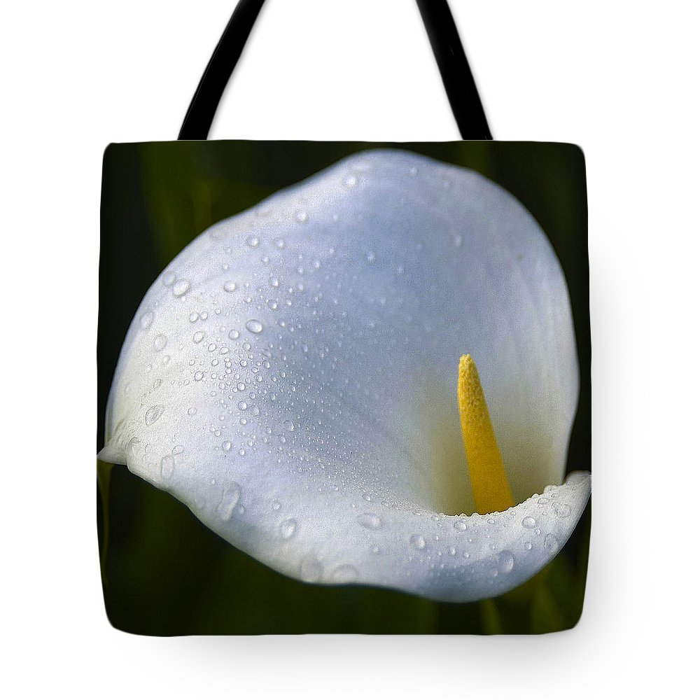 Calla Lily Tote Bag featuring the photograph Calla Lily 3 by Ingrid Smith-Johnsen