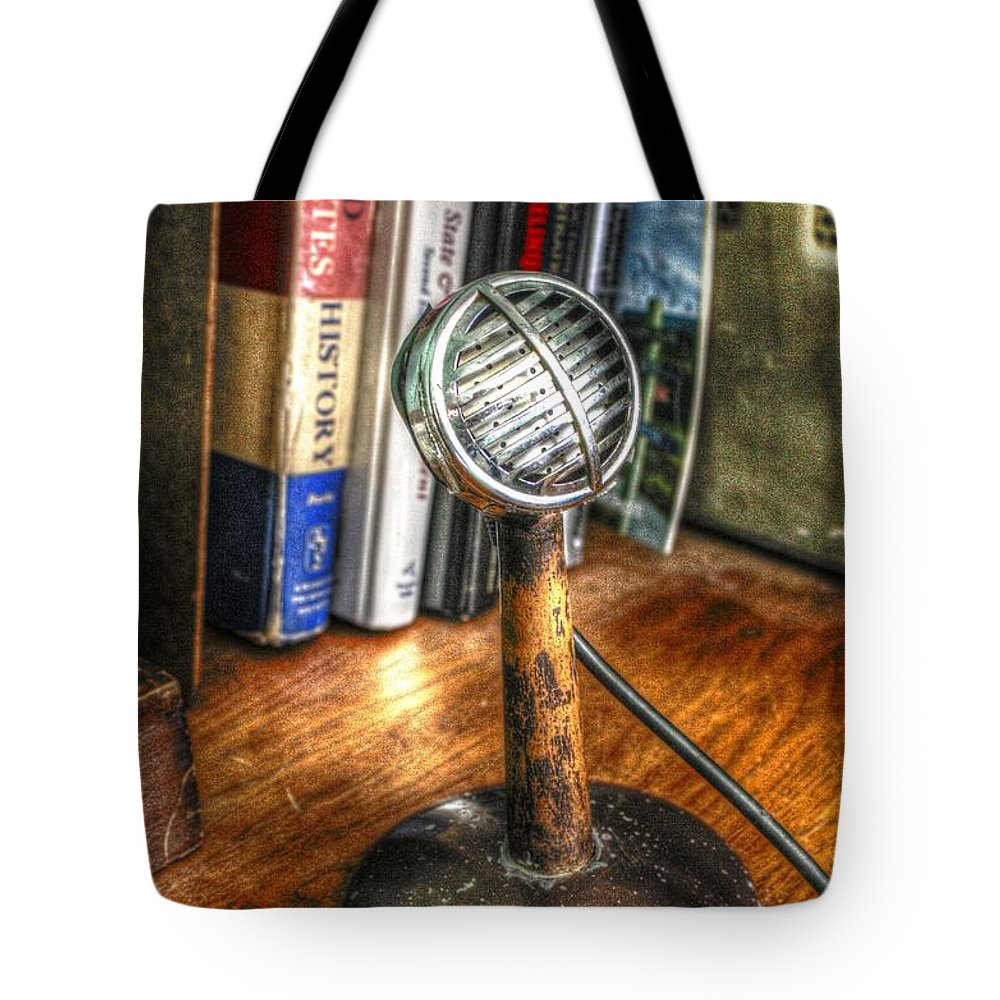 Radio Tote Bag featuring the photograph Calling All Cars by Dan Stone