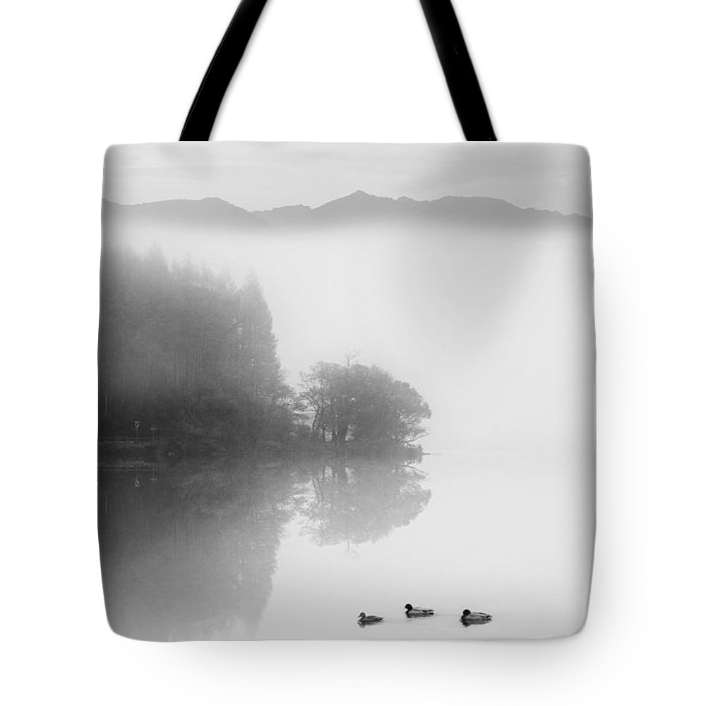 Landscape Tote Bag featuring the photograph Calm Morning by Les McLuckie