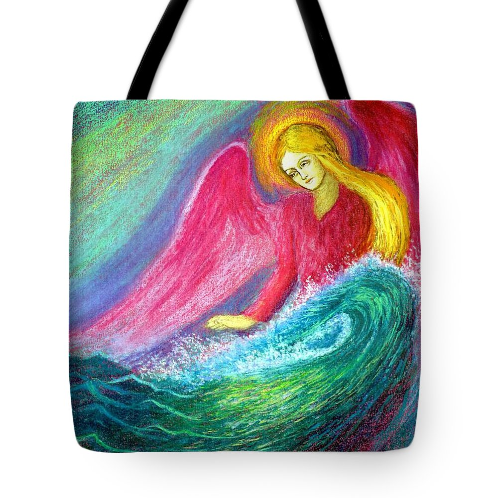 Love Tote Bag featuring the painting Calming Angel by Jane Small