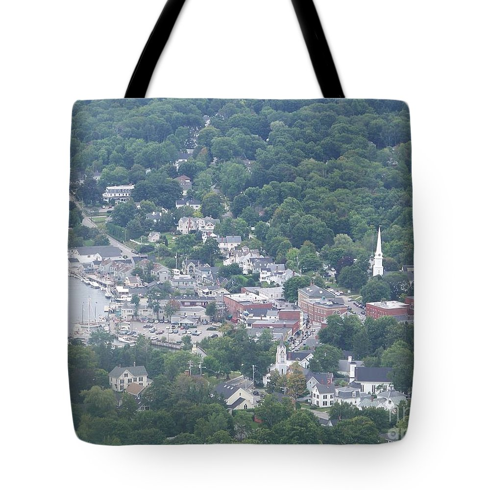 Camden Harbor Tote Bag featuring the photograph Camden Harbor 2381 by Joseph Marquis