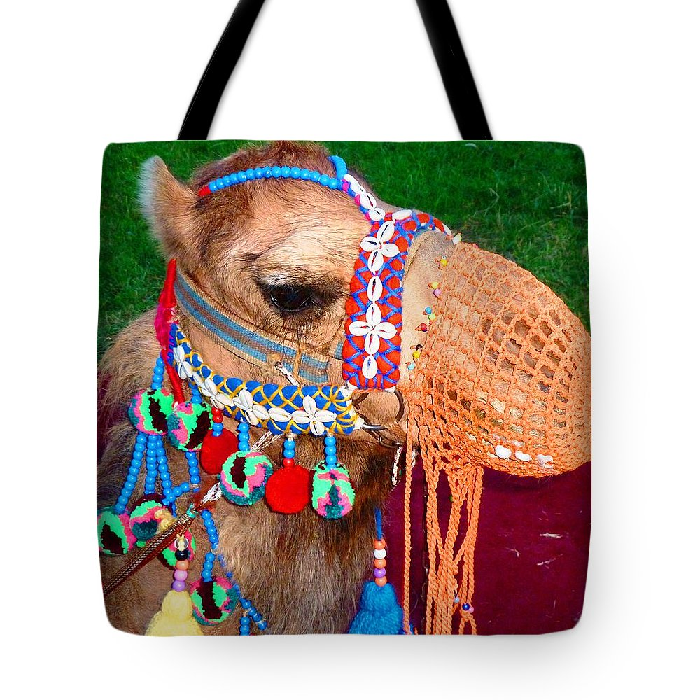 Camel Tote Bag featuring the photograph Camel Fashion by Julia Ivanovna Willhite