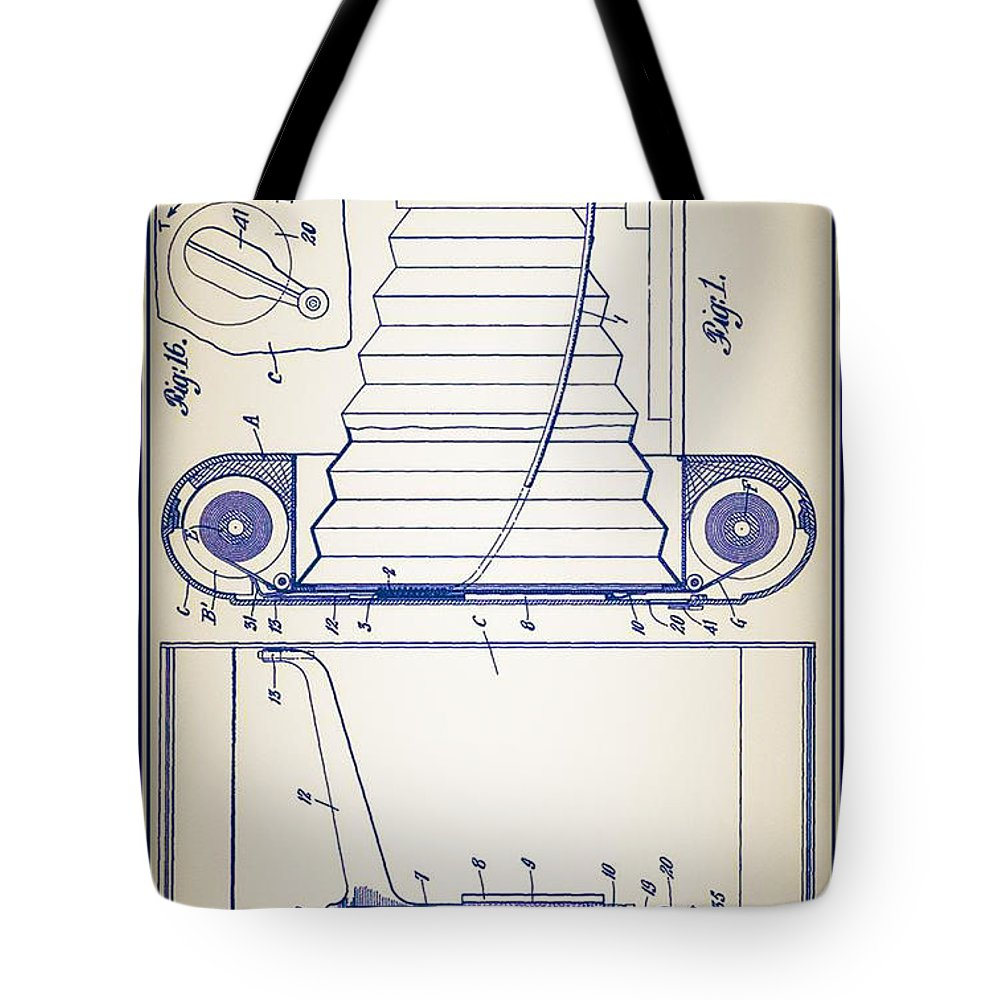 Camera Tote Bag featuring the photograph Camera Patent by Bill Cannon