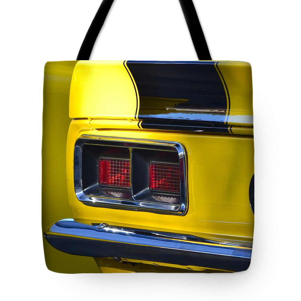 Tote Bag featuring the photograph Camaro Taillight by Dean Ferreira