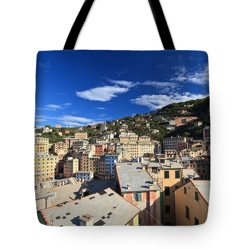 Ancient Tote Bag featuring the photograph Camogli by Antonio Scarpi