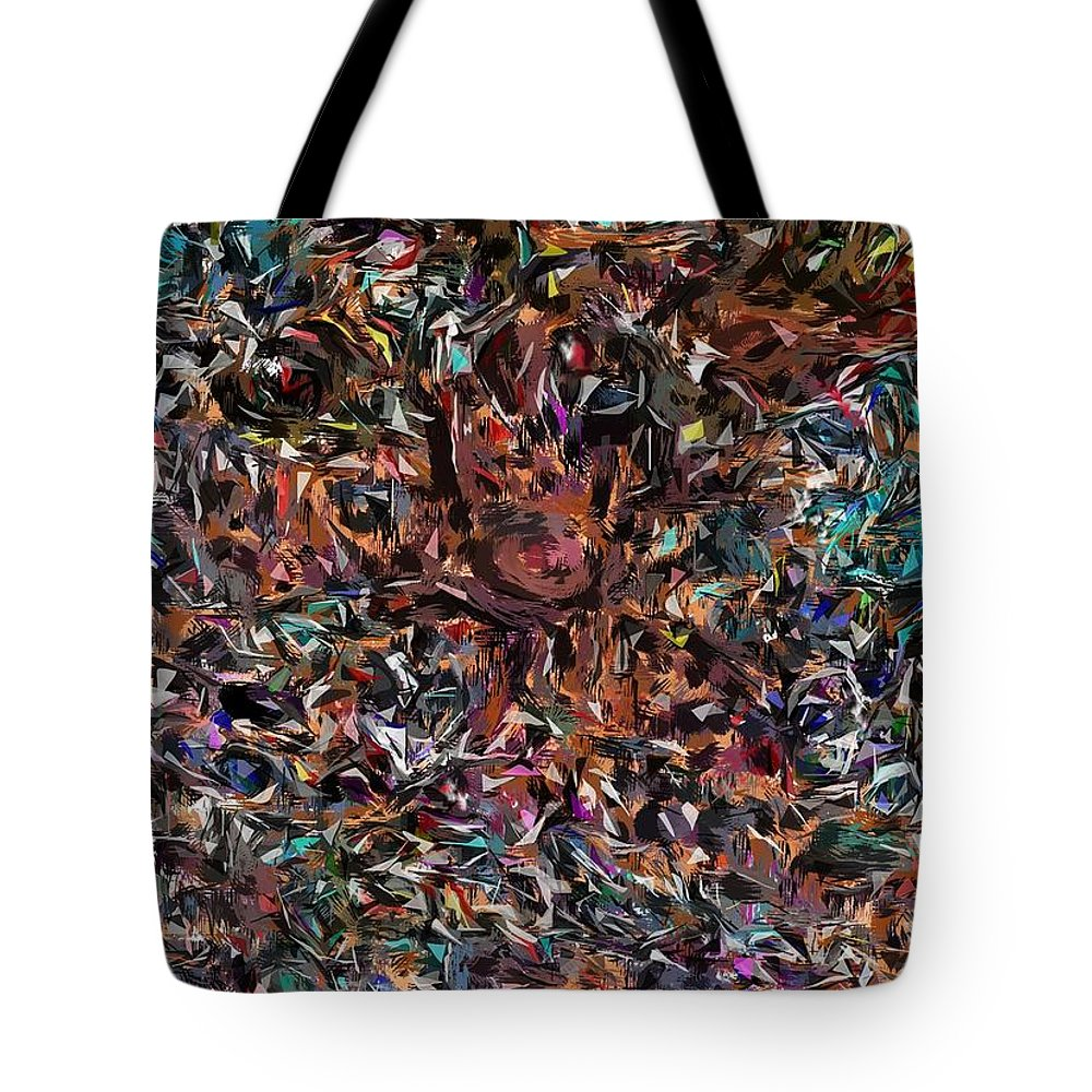 Camouflaged Tote Bag featuring the digital art Camouflaged by David Lane