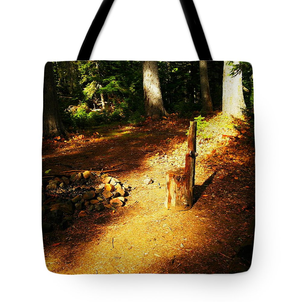 Fires Tote Bag featuring the photograph Camp Site by Jeff Swan