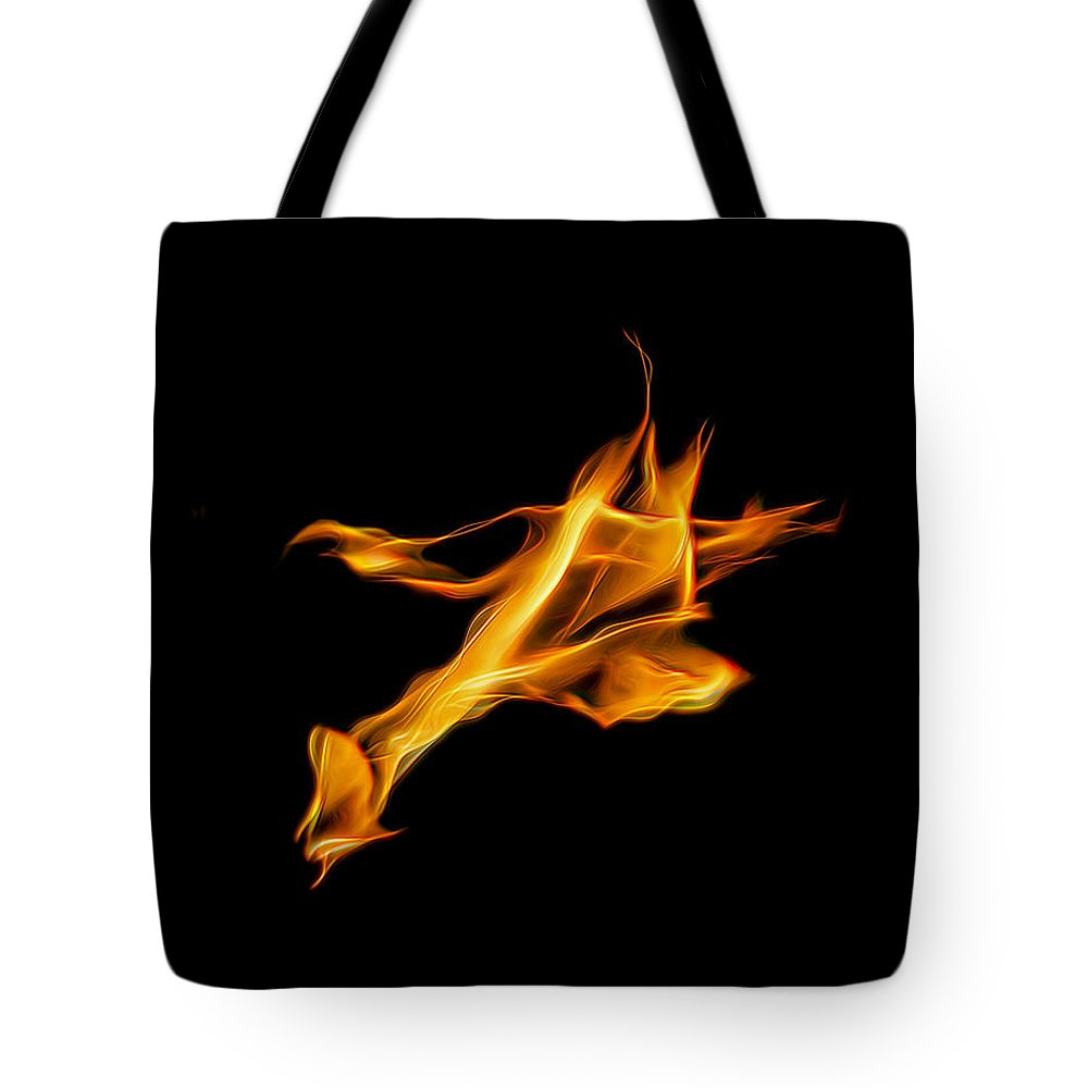 Fire Tote Bag featuring the photograph Campfire by Wes Jimerson