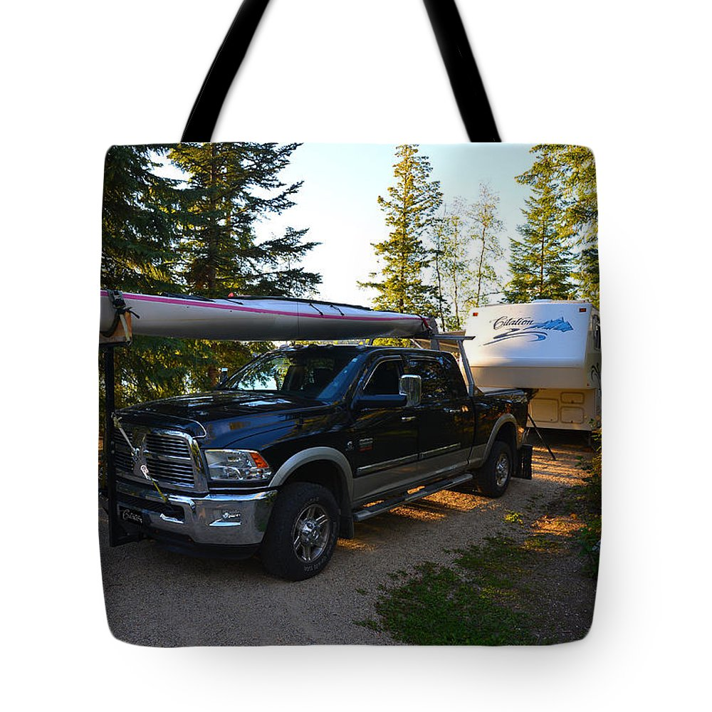 #camping Tote Bag featuring the photograph Camping 42 by Randy Giesbrecht