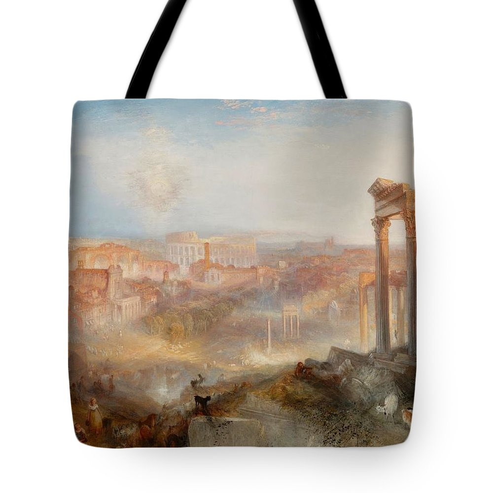 1839 Tote Bag featuring the painting Campo Vaccino by JMW Turner