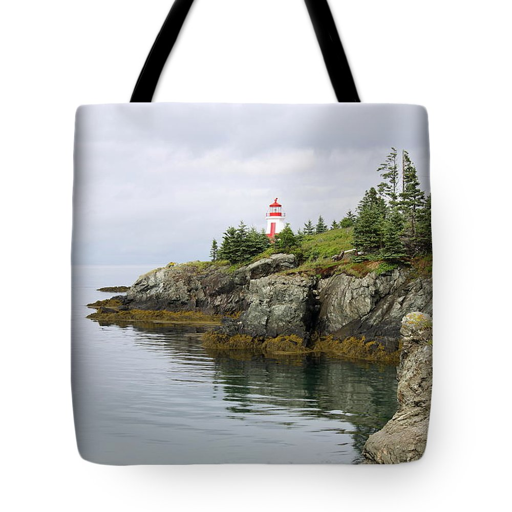 East Quoddy Lighthouse Tote Bag featuring the photograph Campobello Island - East Quoddy Lightstation by Christiane Schulze Art And Photography