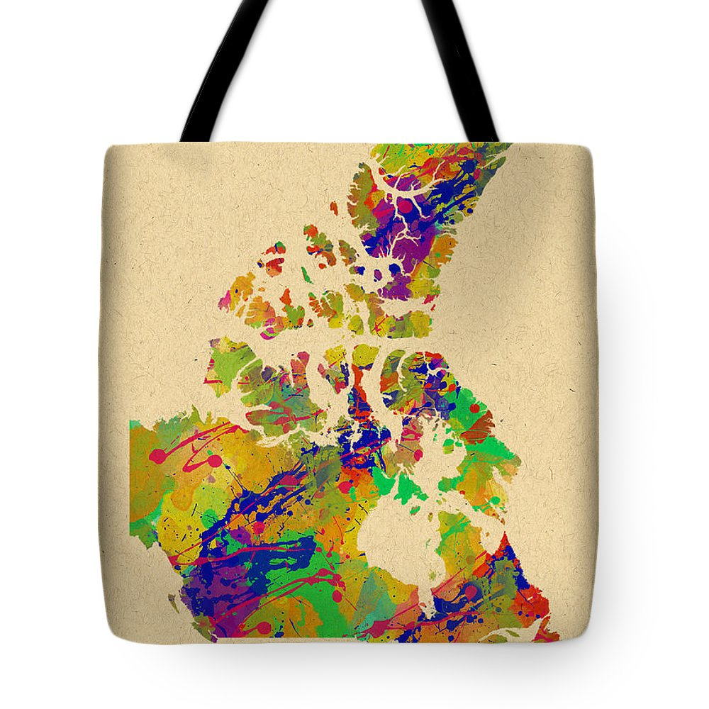 Canada Tote Bag featuring the photograph Canada Watercolor by Chris Smith