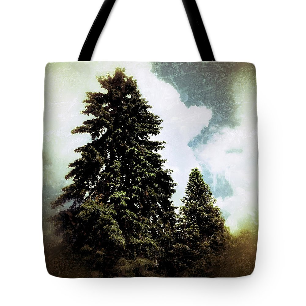Tree Tote Bag featuring the photograph Canadian Pines by Natasha Marco
