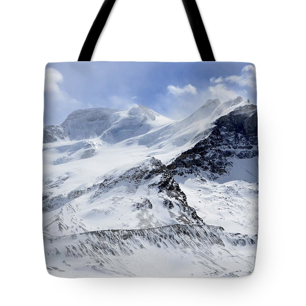 Mountain Tote Bag featuring the photograph Canadian Rockies 2 by Bob Christopher
