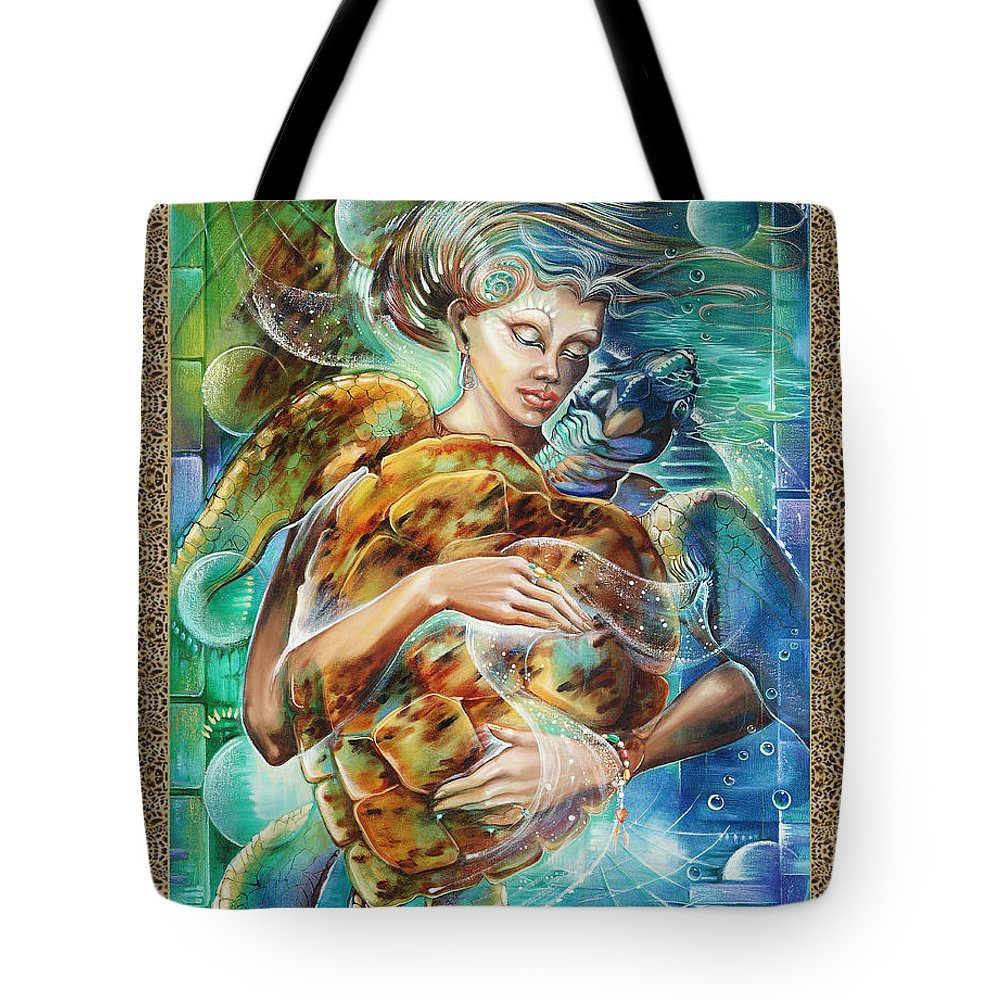 Astrology Tote Bag featuring the painting Cancer by Blaze Warrender