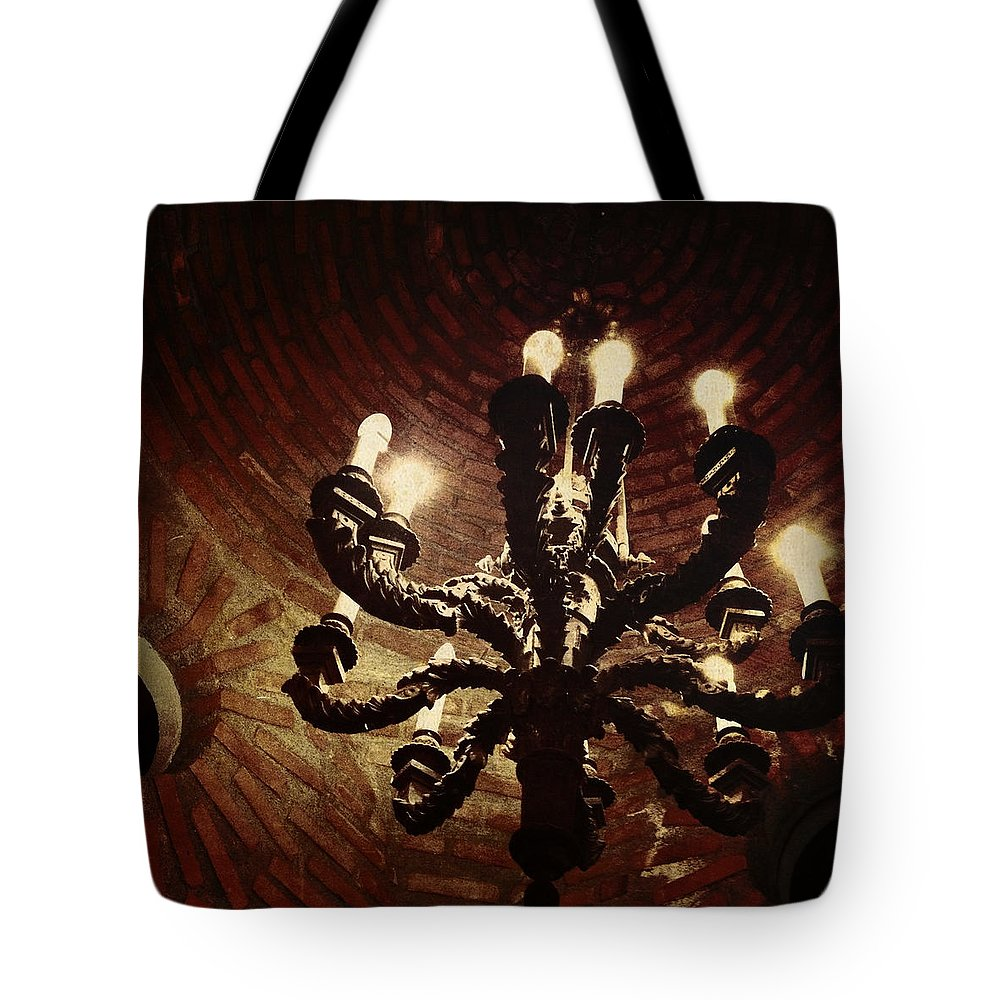 Candelabra Tote Bag featuring the photograph Candelabra by Natasha Marco