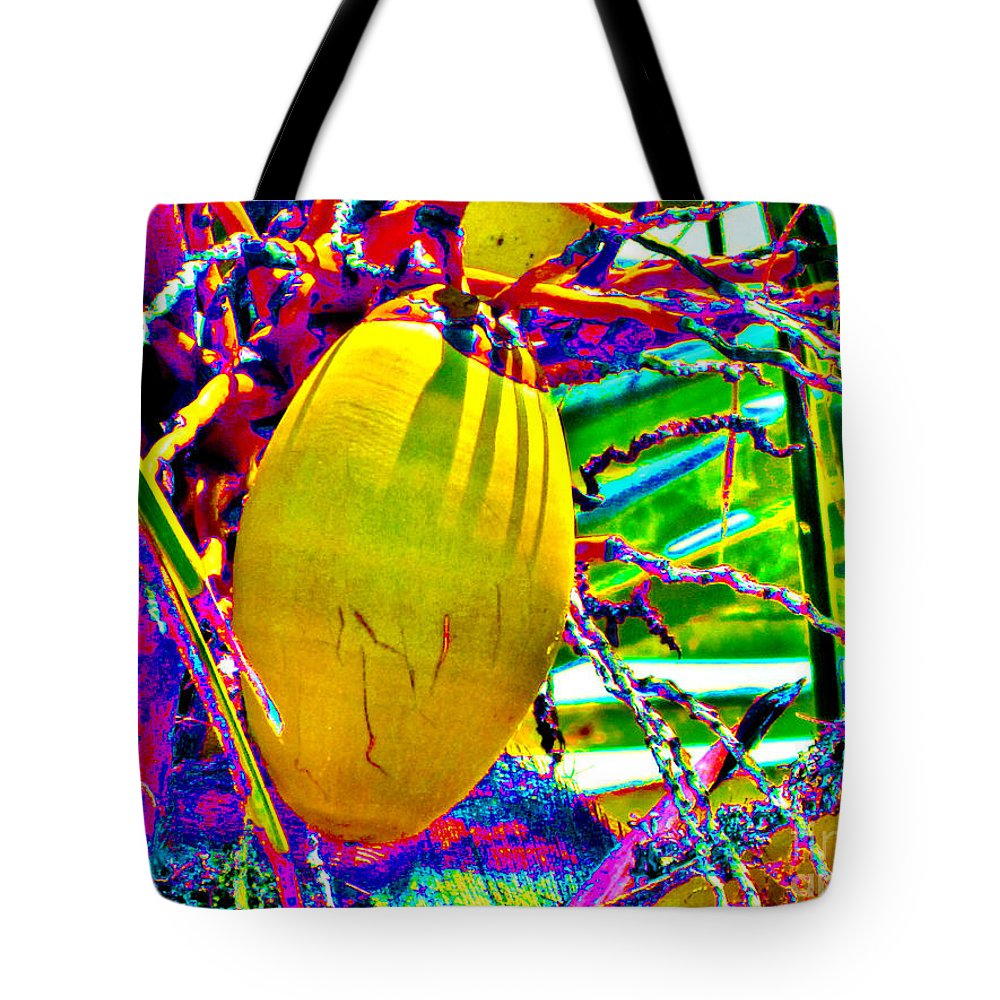 Kerisart Tote Bag featuring the photograph Candied Coconut by Keri West