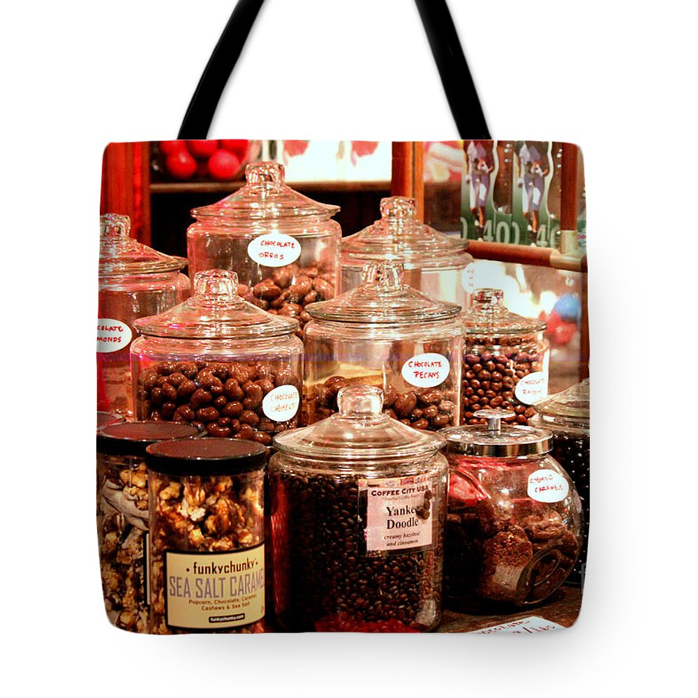 Candy Tote Bag featuring the photograph Candy Anyone? by Kathy White