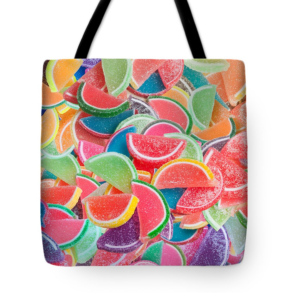 Alixandra Tote Bag featuring the digital art Candy Fruit by MGL Meiklejohn Graphics Licensing