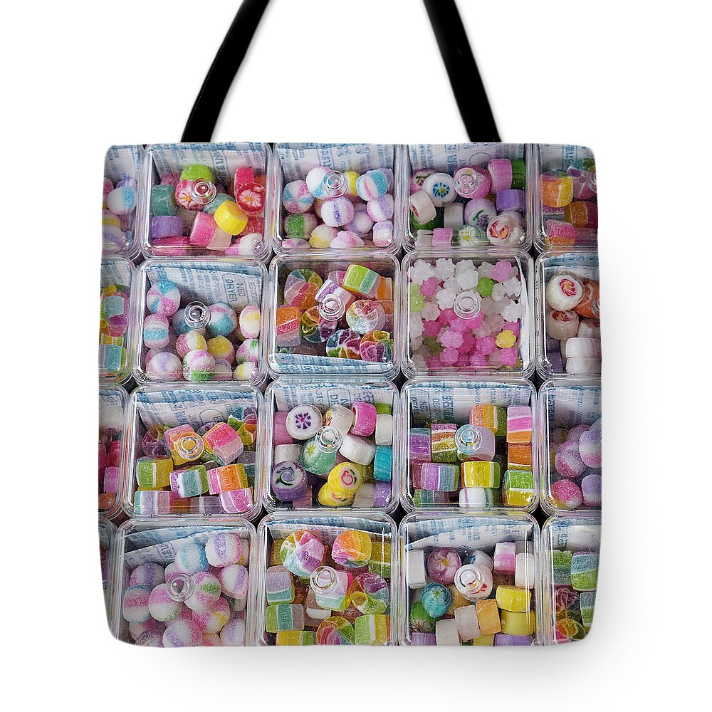 Candy Street Tote Bag featuring the photograph Candy In Kawagoe by For Ninety One Days