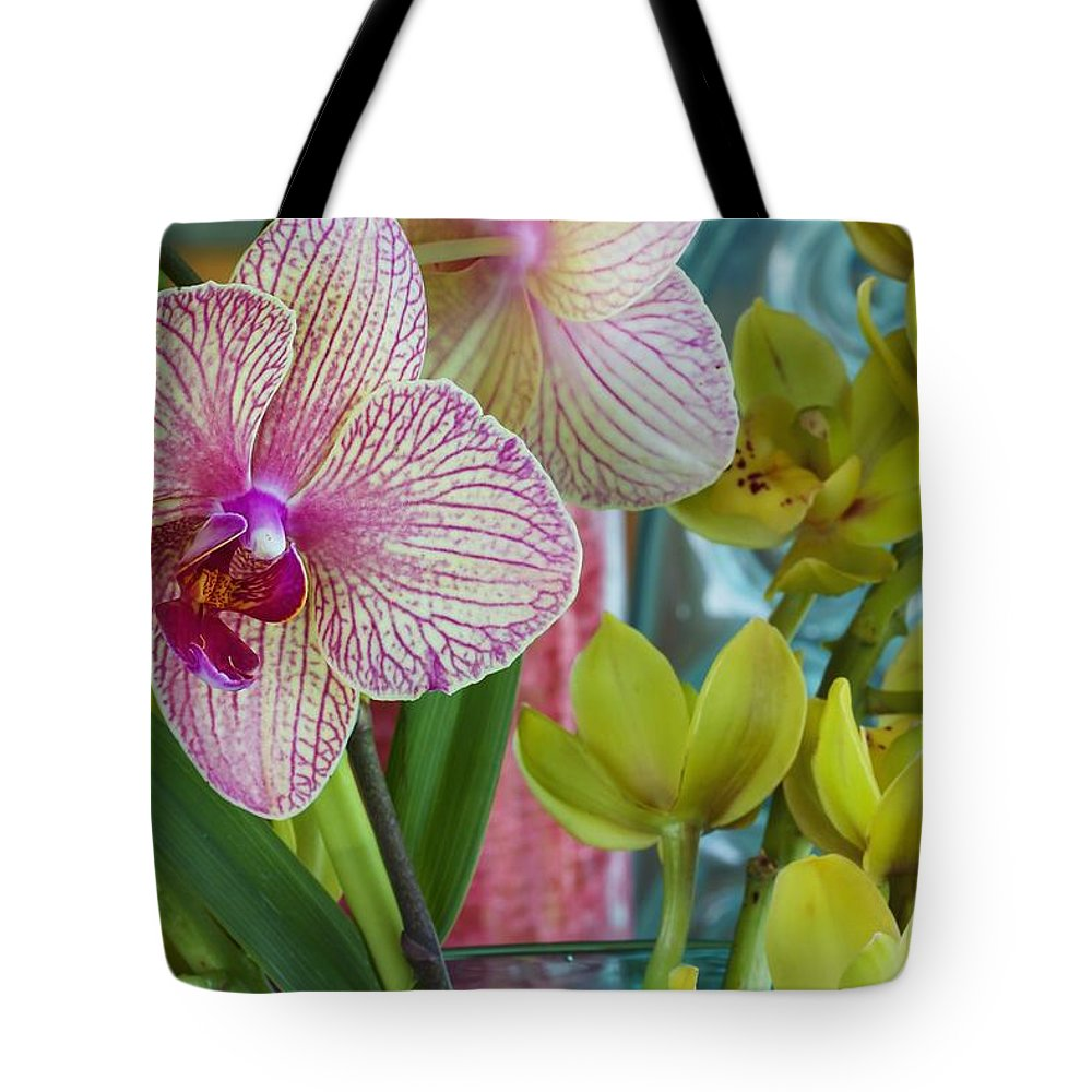 Floral Tote Bag featuring the photograph Candy Striper by Jade Moon