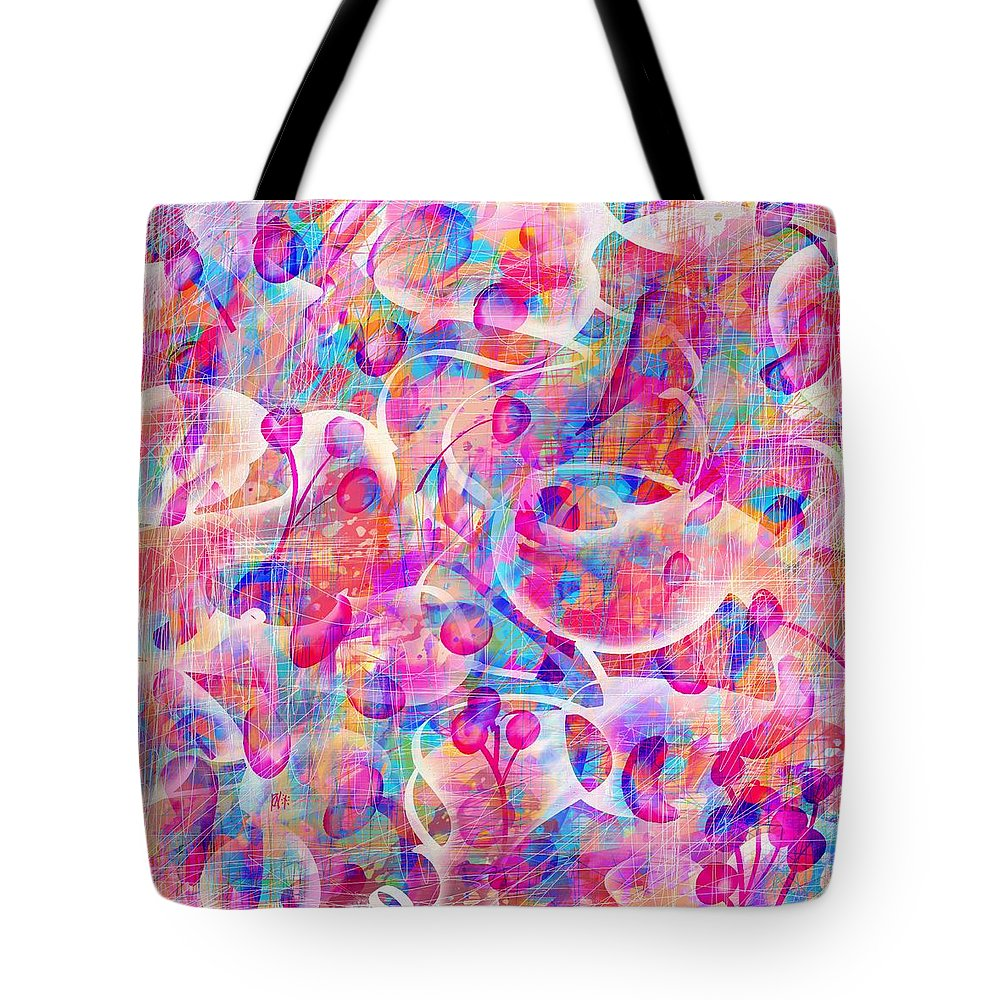 Abstract Tote Bag featuring the digital art Candyland by William Russell Nowicki