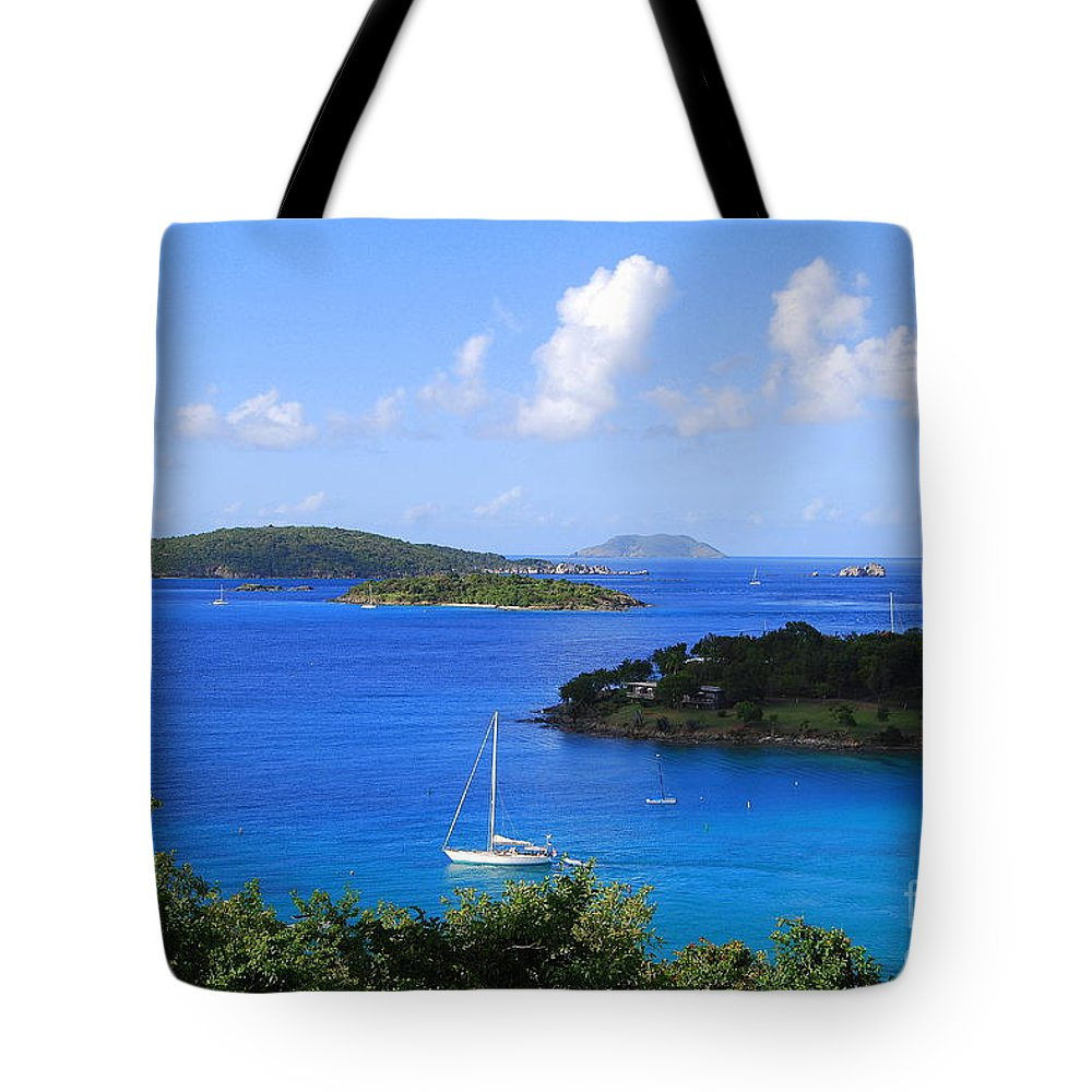 Caneel Bay Tote Bag featuring the photograph Caneel Bay In St. John In The U. S. Virgin Islands by Catherine Sherman