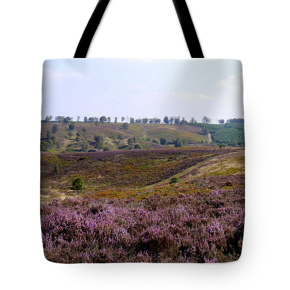 Heather Tote Bag featuring the photograph Cannock Chase Heather 4 by John Chatterley