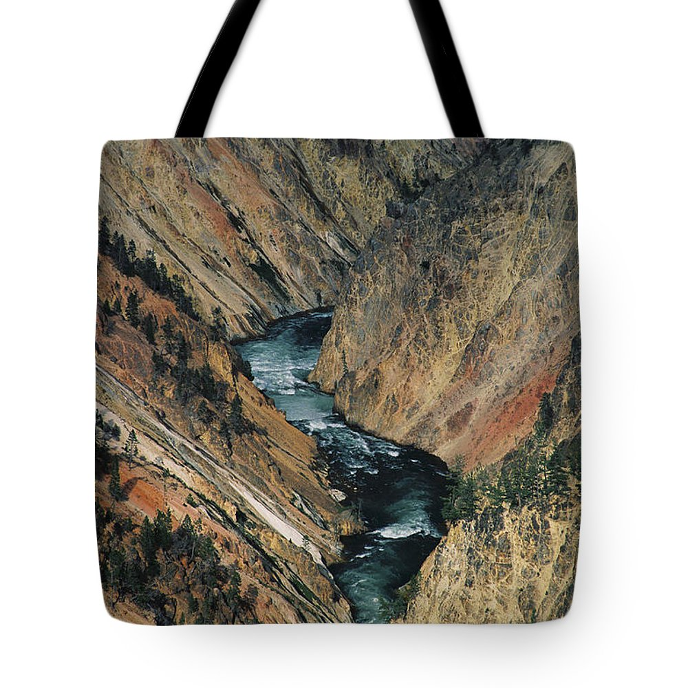 Yellowstone Tote Bag featuring the photograph Canyon Jewel by Kathy McClure