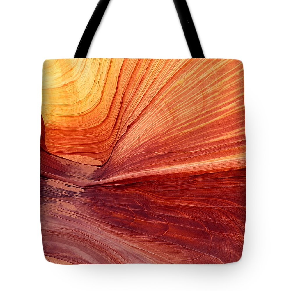 Canyon Tote Bag featuring the photograph Canyon Kissed By The Sun by Alan Socolik